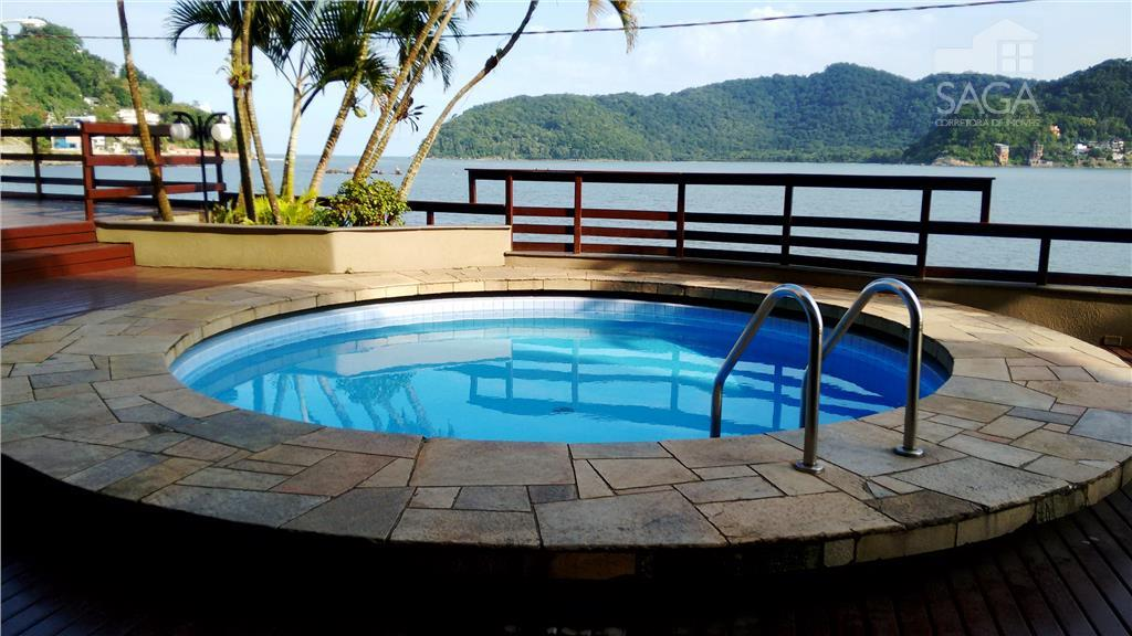 Apartamento  residencial, 1 Dormitório, Frente pro Mar, Piscina, à venda, Itararé, São Vicente.