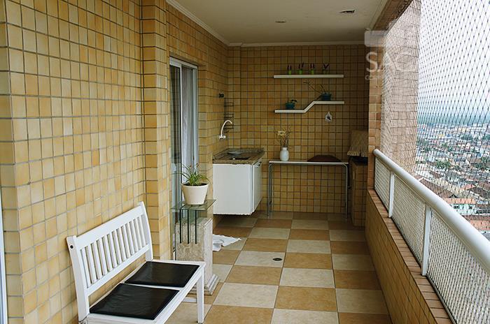Apartamento residencial à venda, 2 dormitórios, suíte, varanda gourmet, piscina, Vila Tupi, Praia Grande.