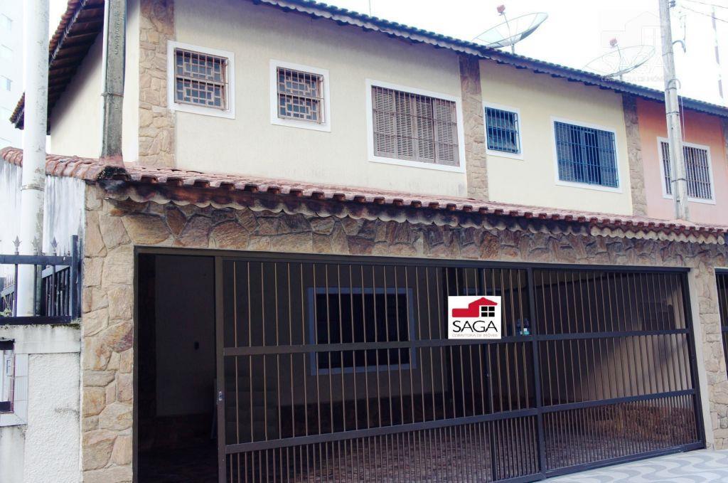 Casa  residencial à venda, Sobrado, 2 Dormitórios, 1 Suíte, Churrasqueira, Vila Caiçara, Praia Grande.
