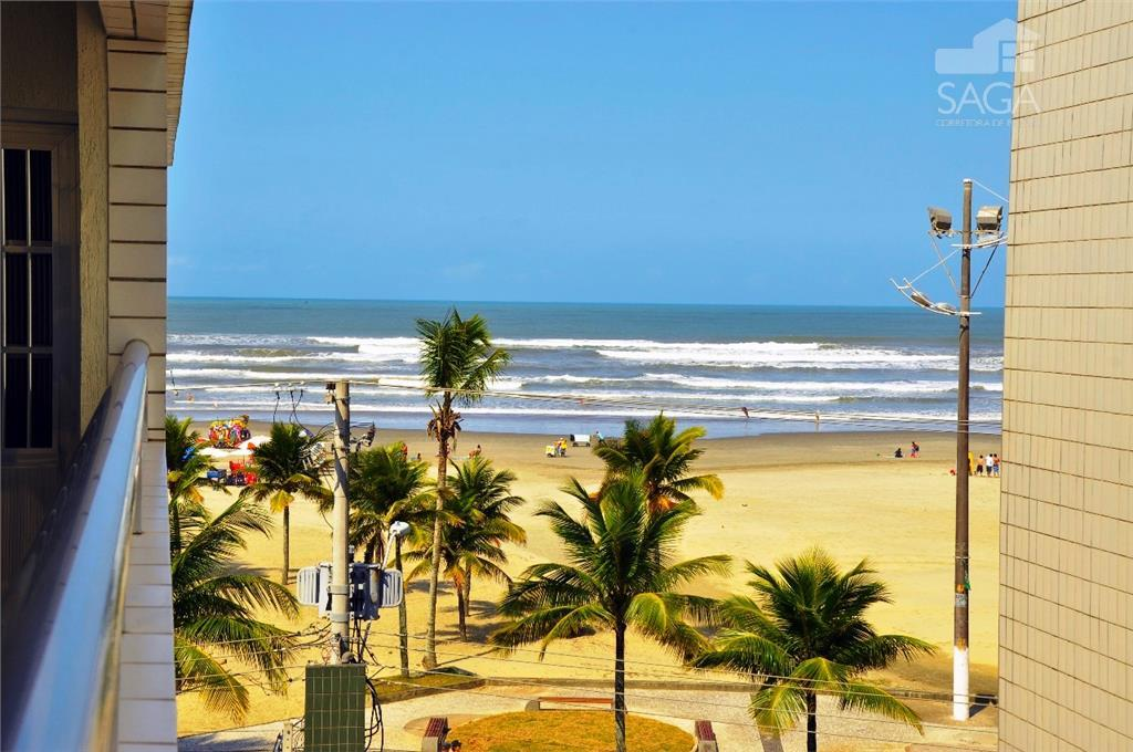 Apartamento  residencial à venda, 1 Dormitório, Frente pro Mar, Vila Guilhermina, Praia Grande.