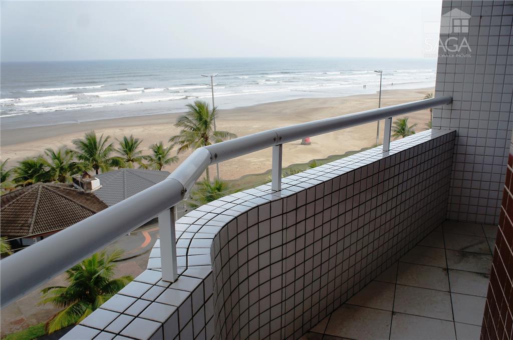 Apartamento  residencial à venda, 1 Dormitório, Suíte, Churrasqueira, Frente pro Mar, Vila Caiçara, Praia Grande.
