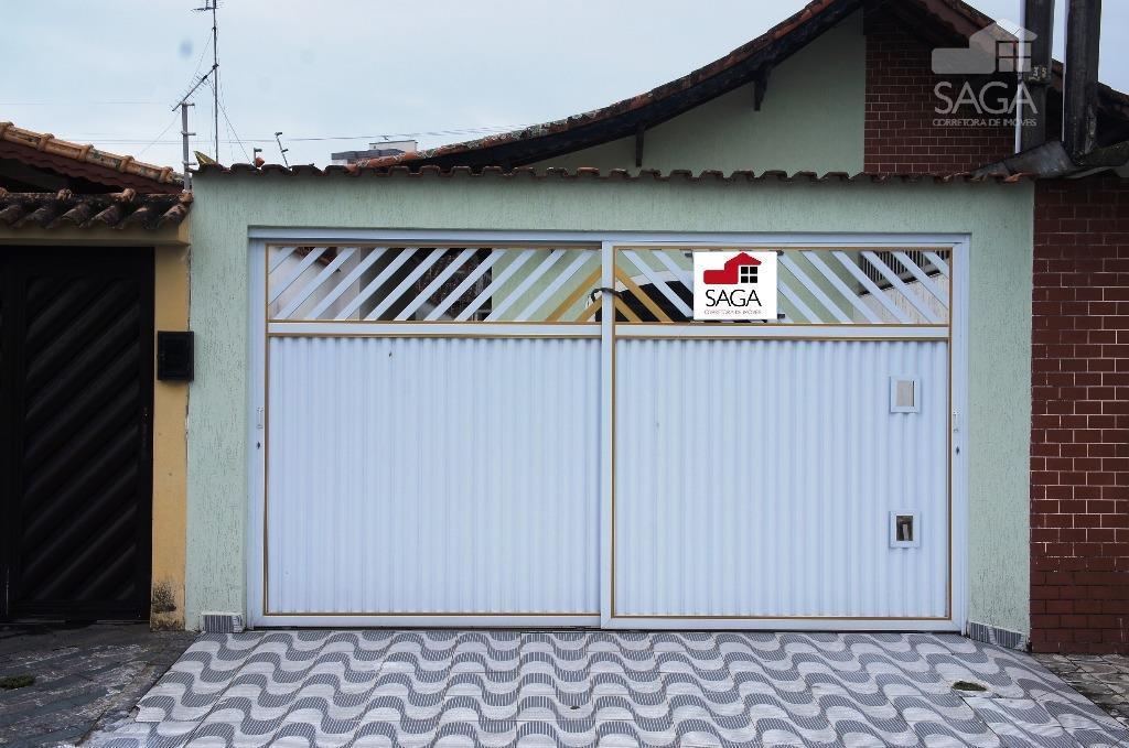 Casa  residencial à venda, 2 Dormitórios, Piscina, Churrasqueira, Suíte, Vila Caiçara, Praia Grande.