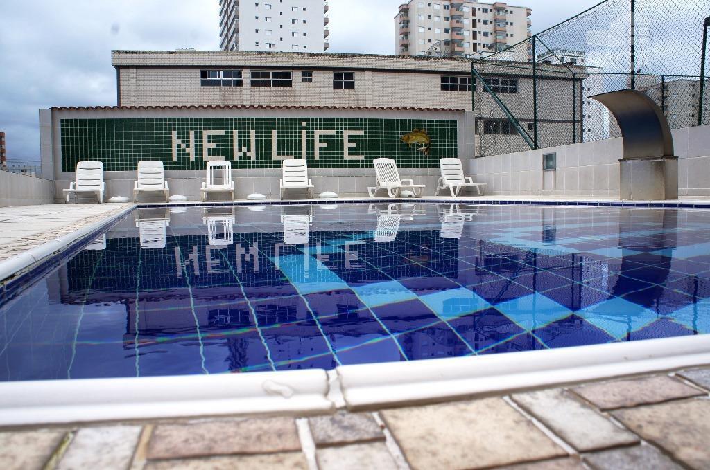 Apartamento  residencial à venda, 1 Dormitório, Piscina, Churrasqueira, Quadra Futebol, Frente pro Mar, Aviação, Praia Grande.