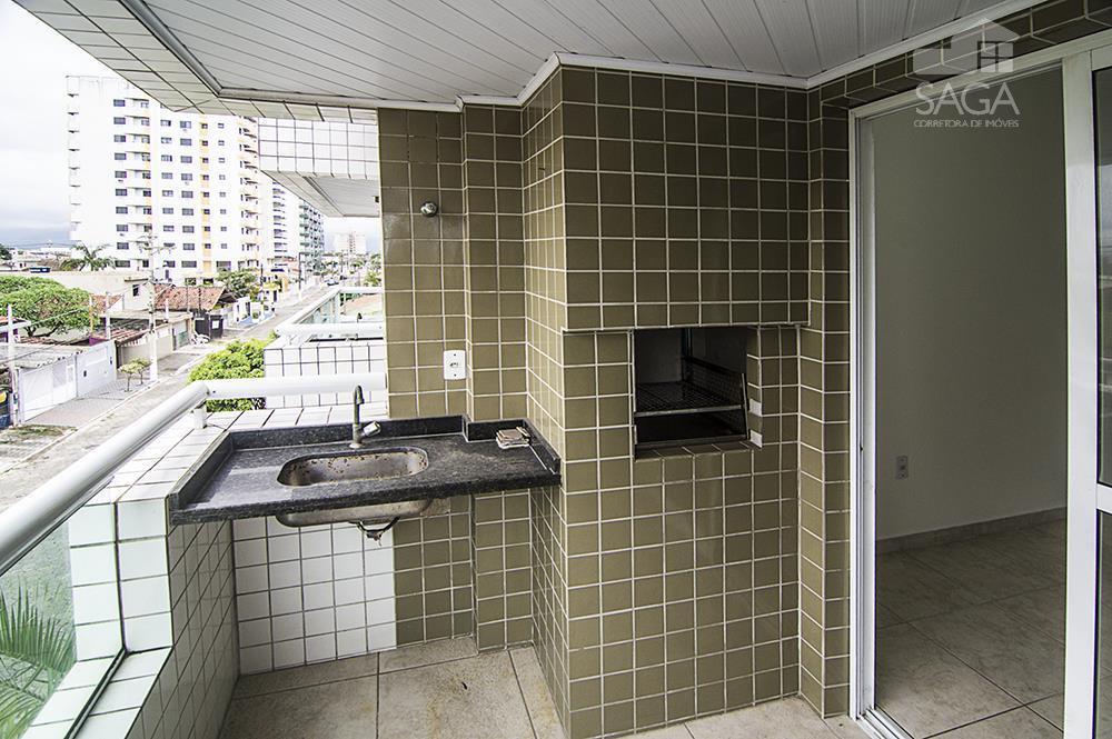 Apartamento residencial à venda, 2 Dormitórios, Suíte, Varanda Gourmet, Vila Guilhermina, Praia Grande.