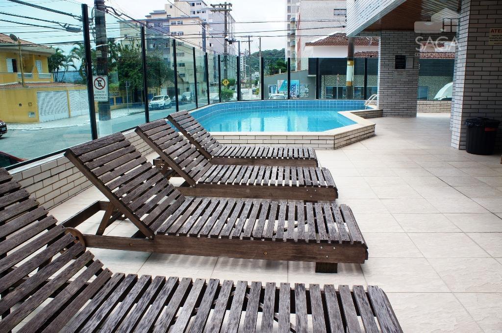 Apartamento  residencial à venda, 2 Dormitórios, 1 Suíte, 90m², Piscina, Canto do Forte, Praia Grande.
