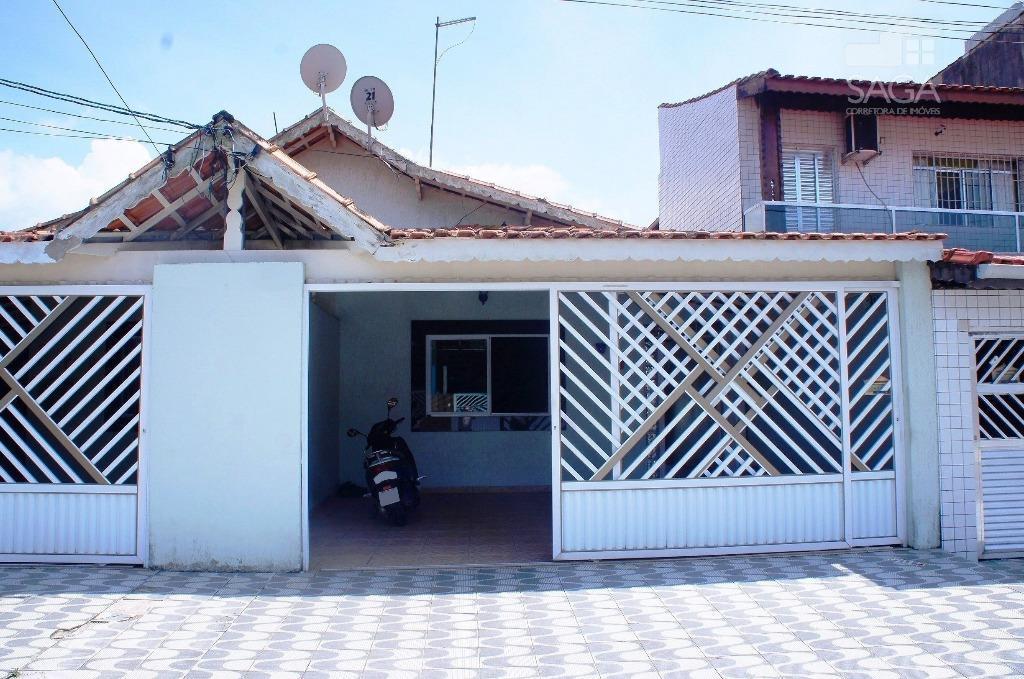 Casa  Residencial à Venda, 180m², 3 Dormitórios, Suíte, Currasqueira, Tude Bastos (Sítio do Campo), Praia Grande.