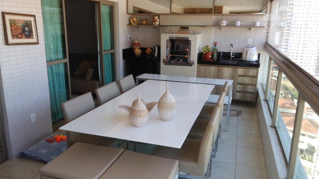Apartamento Alto Padrãol, Sacada Gourmet, Laze Completo, à venda, Canto do Forte, Praia Grande.