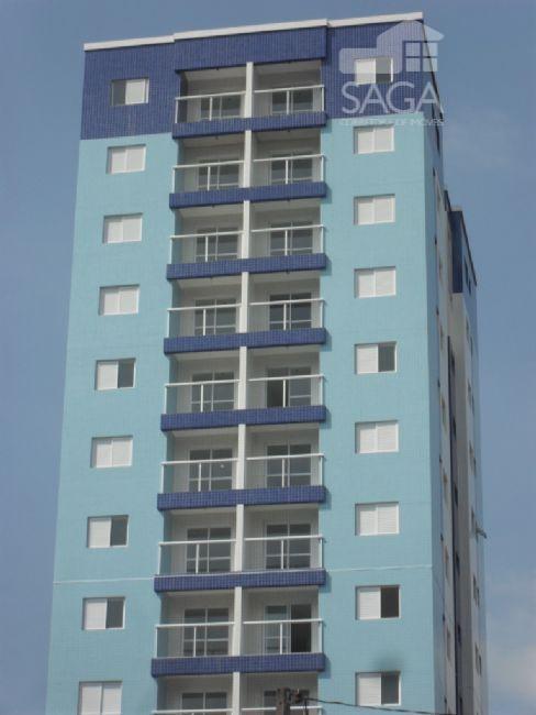Apartamento 2 Dorm, 1 V.Garagem, 50M² na Vila Caiçara, Praia Grande.