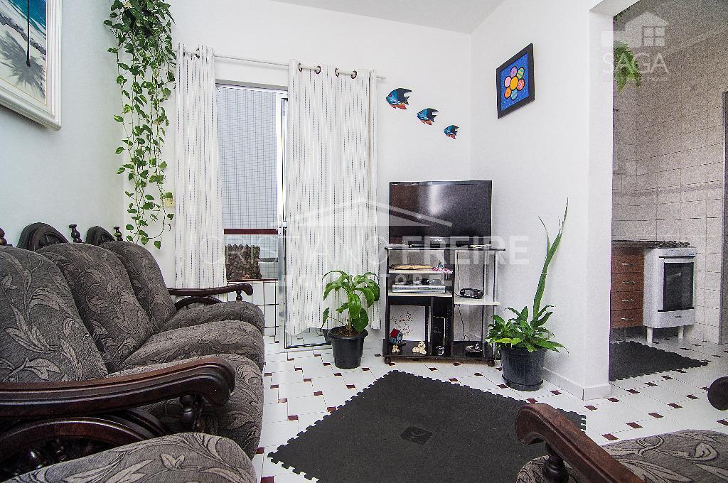 Apartamento à venda, 1 Dormitório, Sacada, Elevador, Churrasqueira, Garagem, Financia, Vila Guilhermina, Praia Grande.