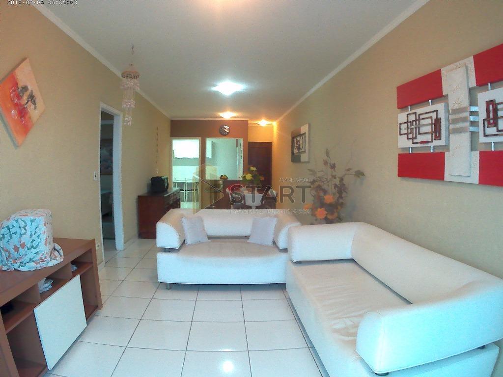Belíssimo apartamento semi mobiliado frente ao Mar. 2 dormitórios, Ocian, Praia Grande- Sp
