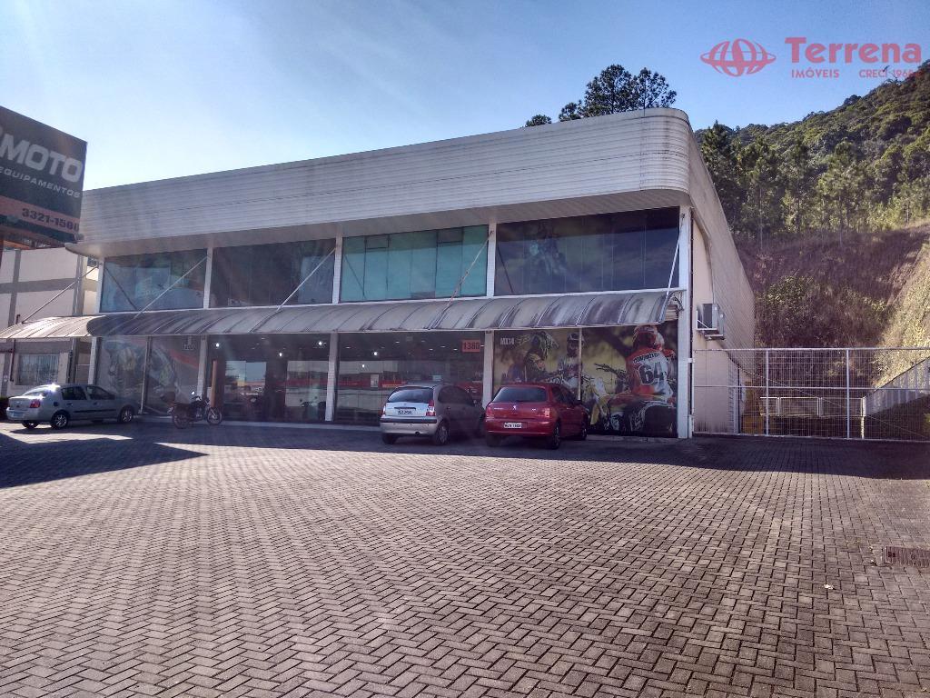 excelente prédio de 1.377m², localizado em corredor de serviços (nicho das principais concessionárias de blumenau). o...