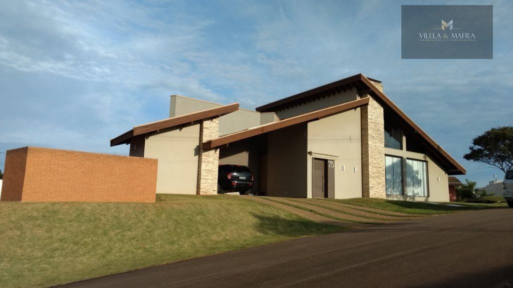 Casa residencial à venda, Campo da Cachoeira, Poços de Caldas - CA0054.