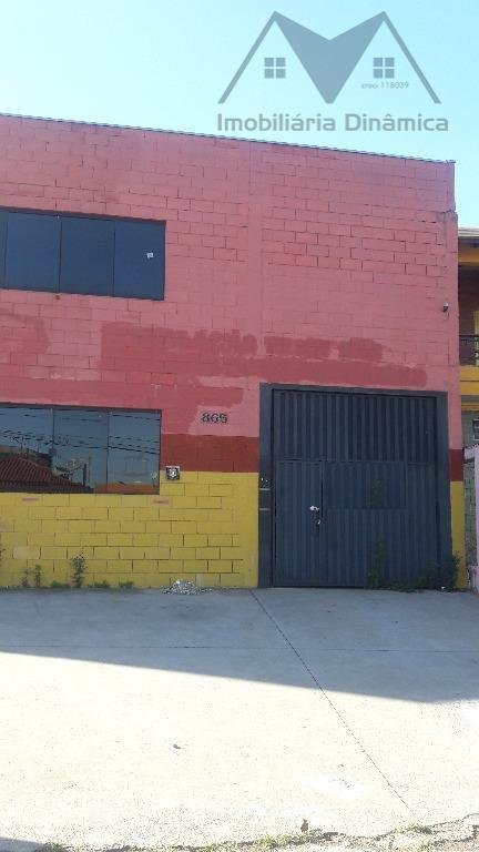 galpão para venda e locação no bairro nova terra, construção nova, piso industrial, mezanino de 30m...