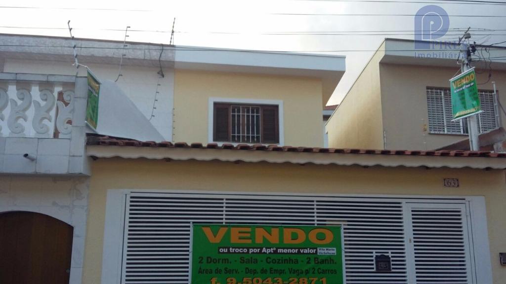 Sobrado  residencial à venda, Vila Maria Alta, São Paulo.
