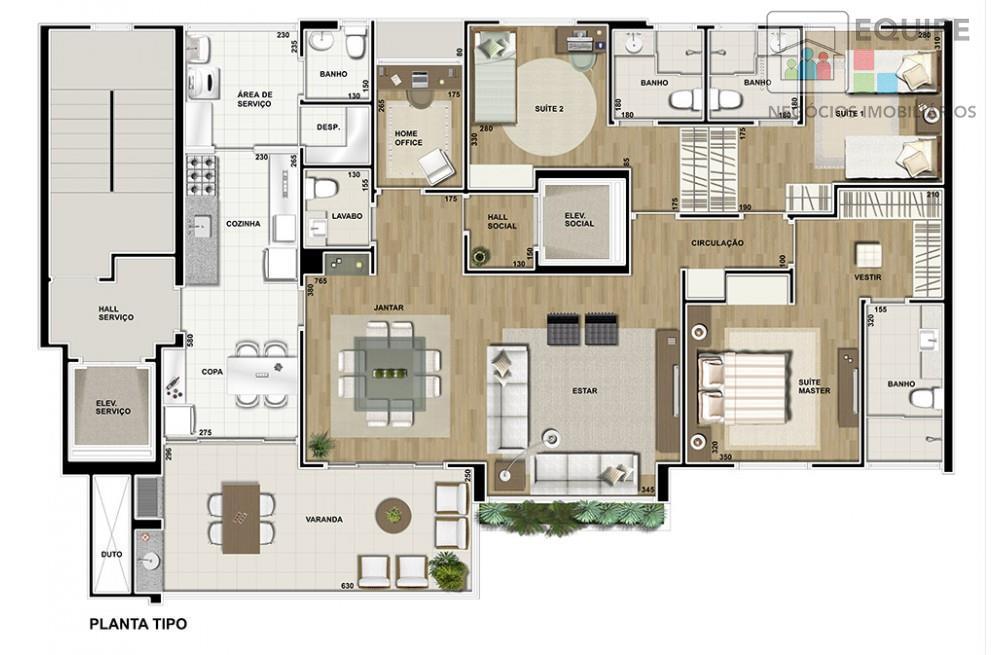 Apartamento de 3 dormitórios em Vila Mendonça, Araçatuba - SP