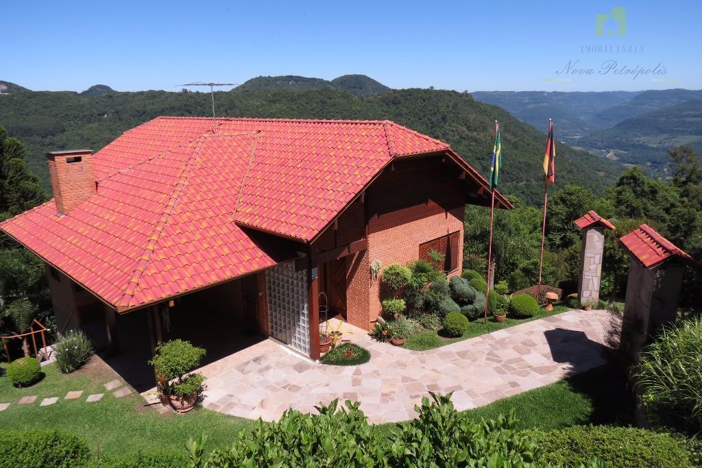 Espetáculo de casa residencial à venda, Vila Juriti, Nova Petrópolis.