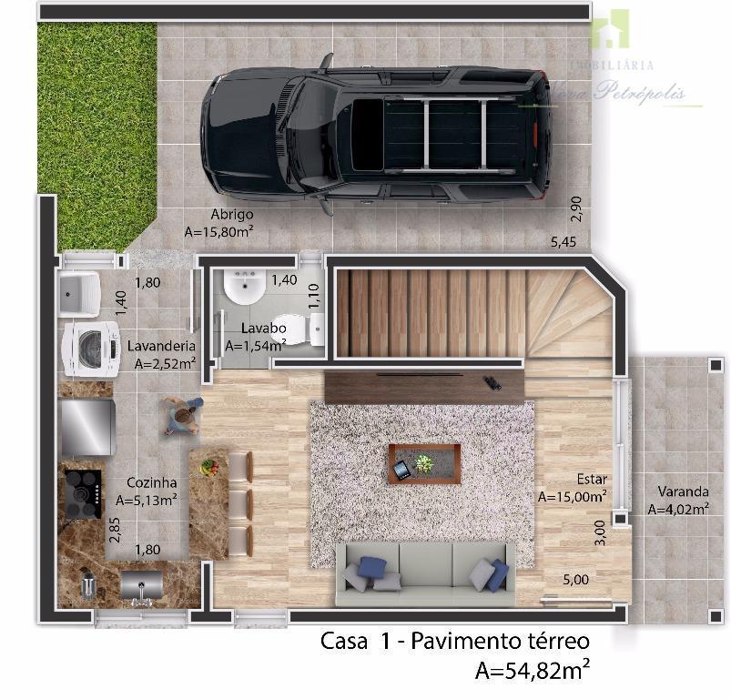 Casa residencial para venda e locação, Pousada da Neve, Nova Petrópolis.