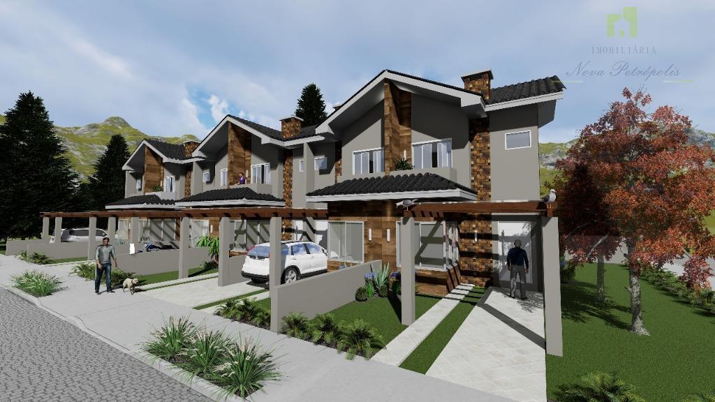 Casa com 2 dormitórios à venda por R$ 380.000 - Vila Juriti - Nova Petrópolis/RS