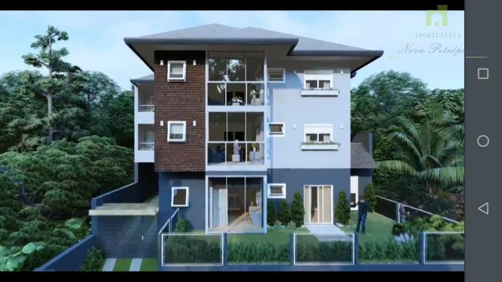 Apartamento com 2 dormitórios à venda, 68 m² por R$ 290.000 - Pousada da Neve - Nova Petrópolis/RS