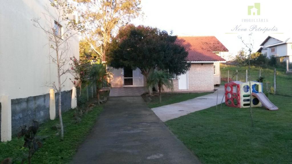 Casa com 4 dormitórios à venda, 120 m² por R$ 455.000 - Pousada da Neve - Nova Petrópolis/RS