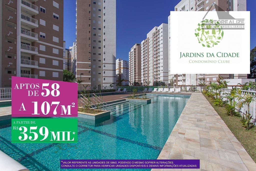 Apartamento residencial à venda, Parque Industrial das Oliveiras, Taboão da Serra.