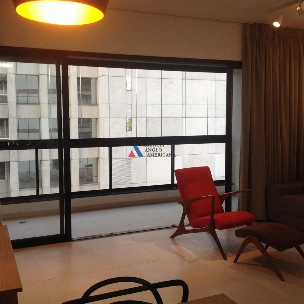 Apartamento  residencial mobiliadopara locação, Vila Olímpia, São Paulo - AP11774.