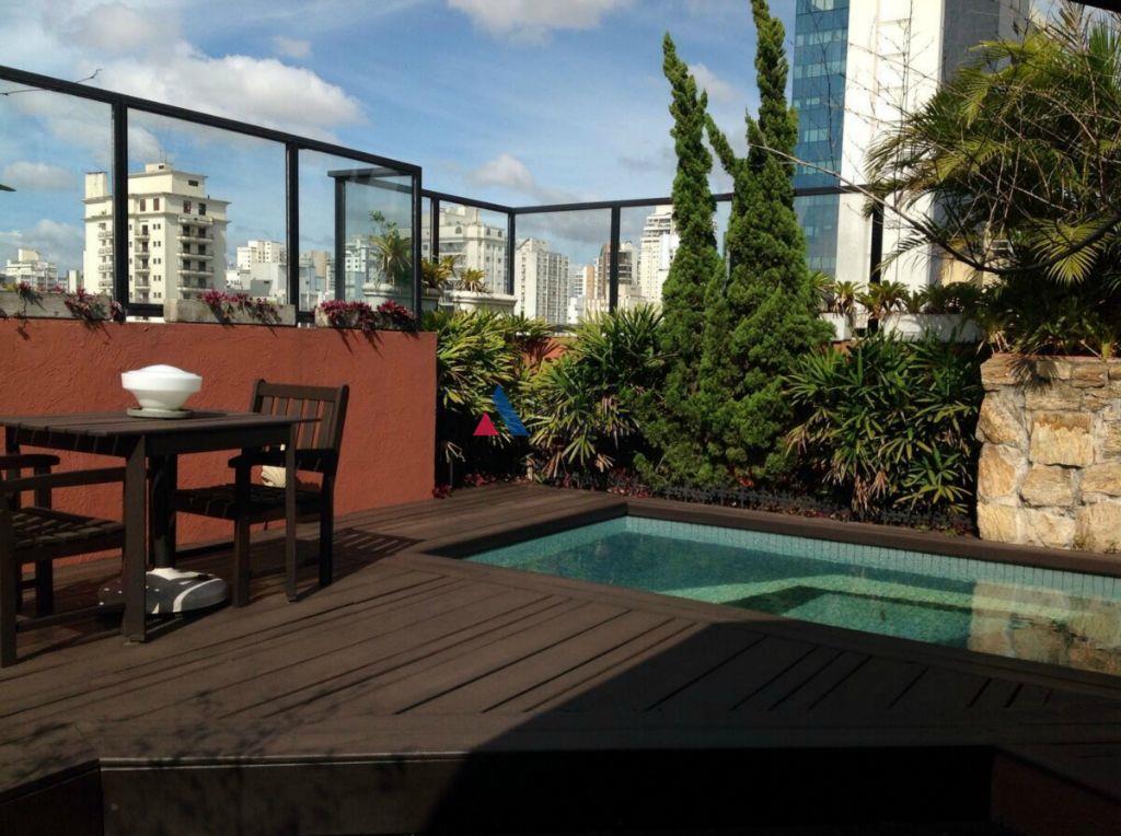Cobertura duplex ampla, residencial para locação, Campo Belo, São Paulo - CO0073.