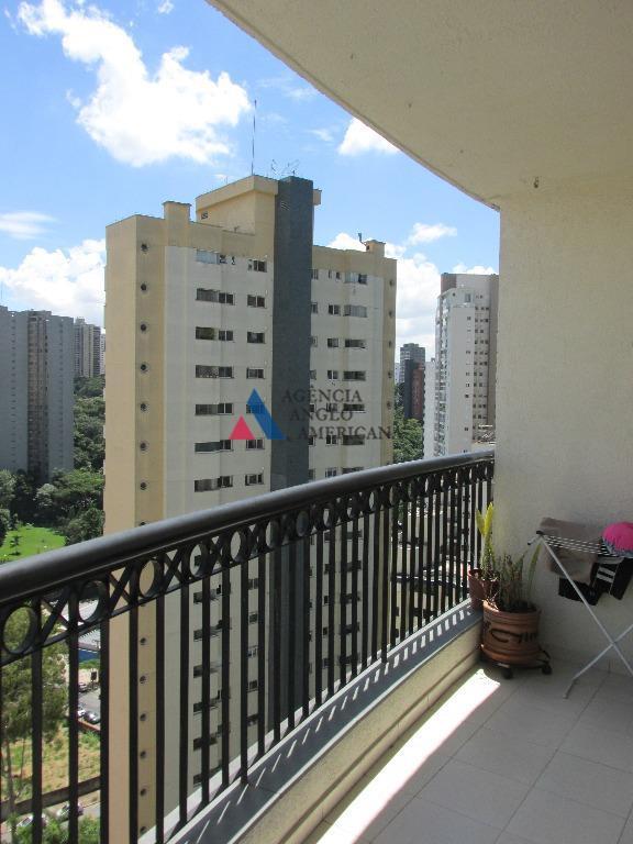 Apartamento mobiliado para locação, Morumbi, São Paulo - AP12109.