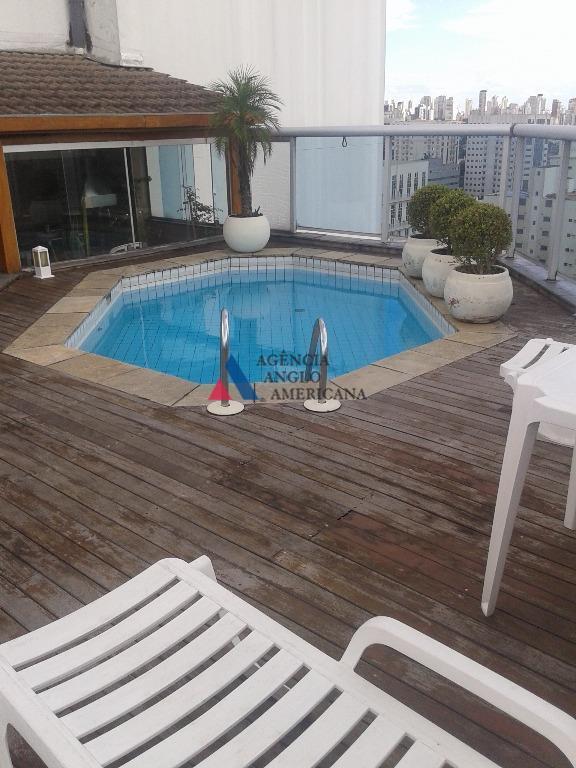 cobertura duplex c/ piscina e área gourmetreformada, com ar condicionado e belo terraço