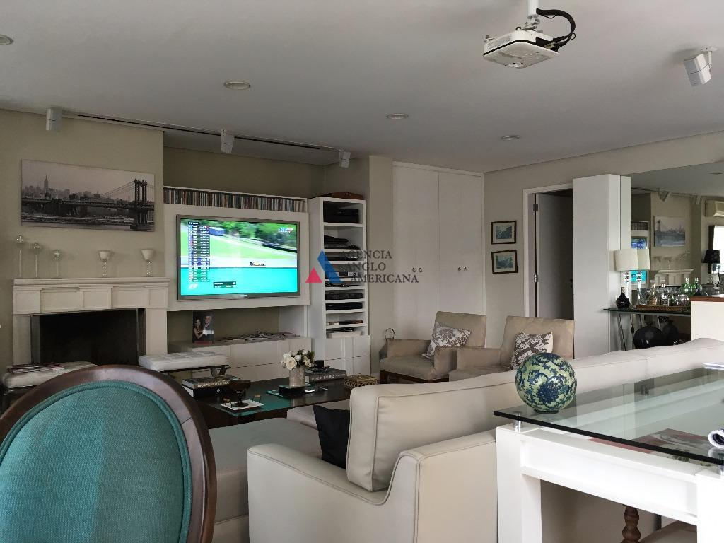 cobertura duplex, com área gourmet e hidromassagem no terraçosala com lareira, sala de tv, sala de...