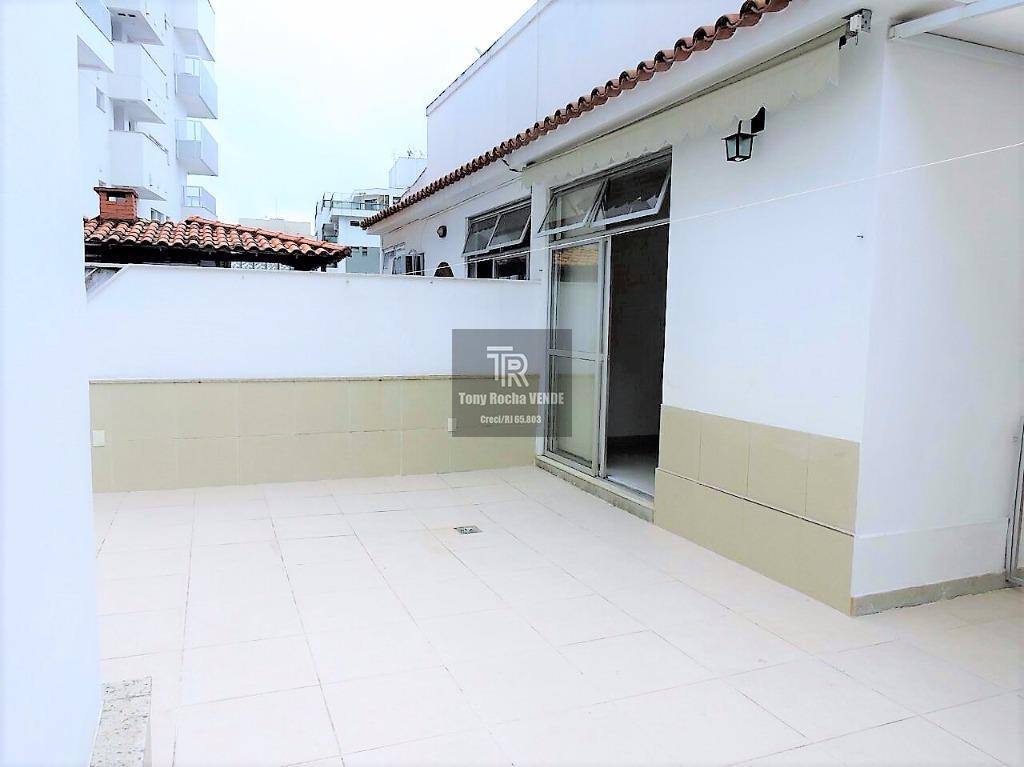 Cobertura 3 Quartos, 2 Vagas, Terraço em Rua Nobre - Jardim Icaraí