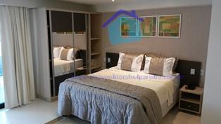 especificações do apartamento: apartamento mobiliado no 3° andar, frente sul . contendo, sala/quarto, varanda, cozinha americana...