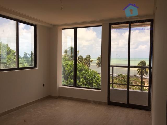 Apartamento nascente, 2 suítes, vista panorâmica da Praia de Carapibus.