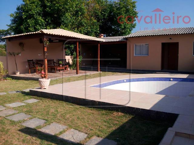 Casa Com Piscina, Churrasqueira, em Condomínio, Caxito, Maricá - CA0530.