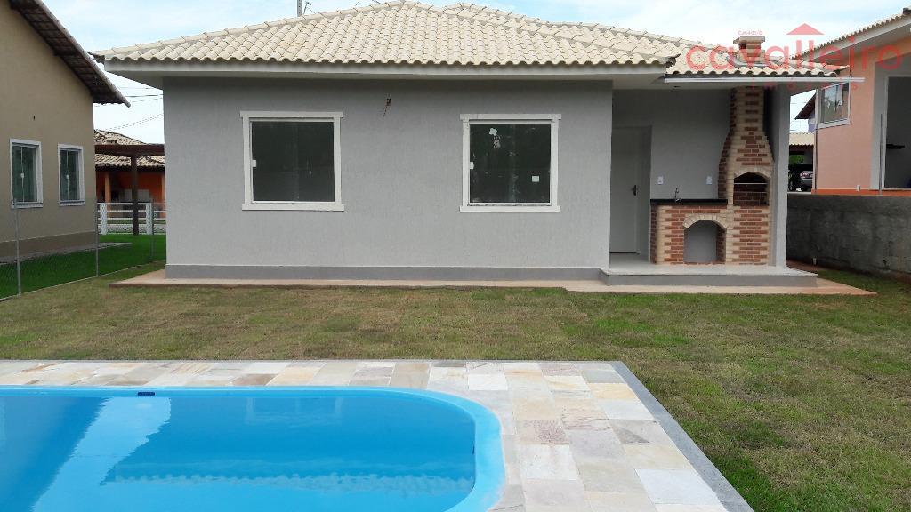 Casa em Condomínio, Com 3 Quartos (1 suíte), Piscina e Churrasqueira, São José Do Imbassaí, Maricá.