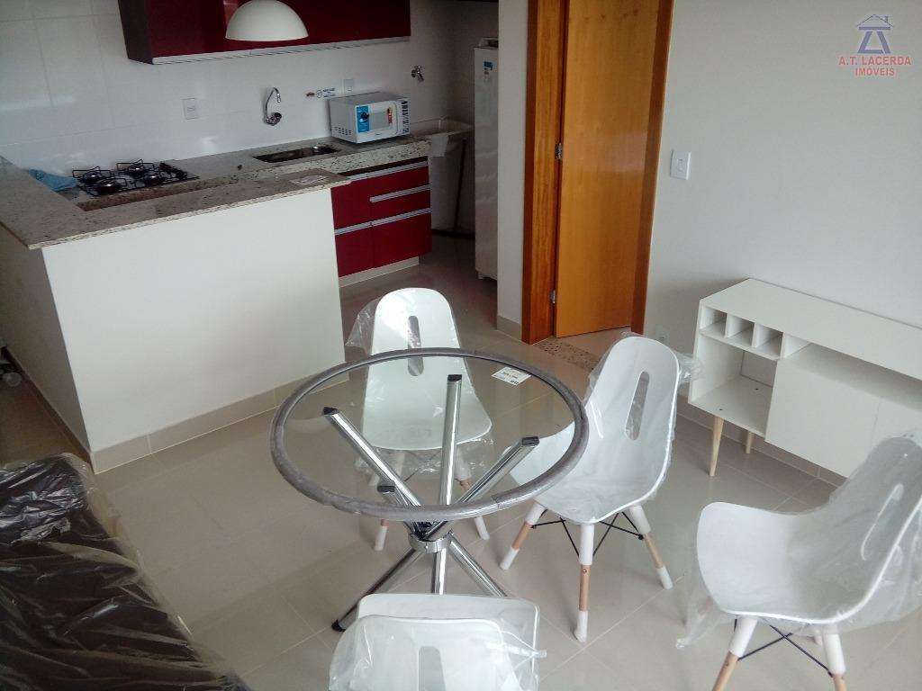 Flat residencial para locação, Jardim São Luiz, Montes Claros.