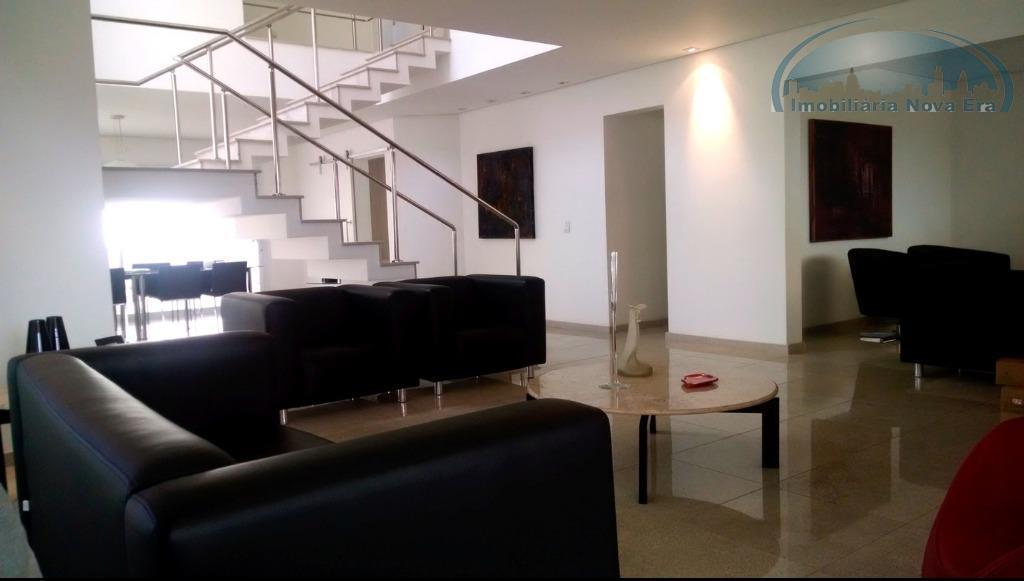 casa residencial à venda, condomínio alpes de vinhedo, vinhedo - ca1241.vende-se sobrado mobiliado. arquitetura moderna, bem...
