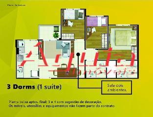 Cobertura de 3 dormitórios à venda em Vila Camilópolis, Santo André - SP