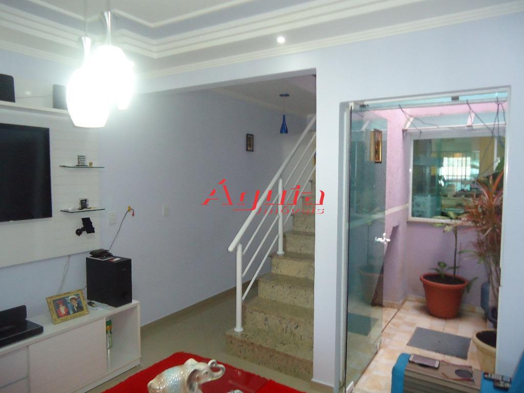 Sobrado residencial à venda, Parque Oratório, Santo André - SO0213.