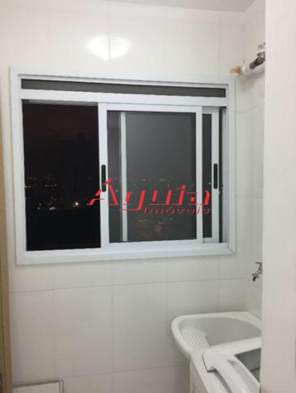 apartamento - vila homero thon - 2 dormitórios, sala teto sanca, sacada, piso laminado, cozinha, lavanderia...