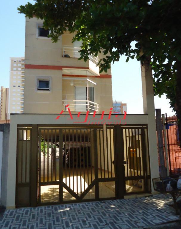 Apartamento com 2 dormitórios à venda, 71 m² por R$ 318.000 - Bangu - Santo André/SP