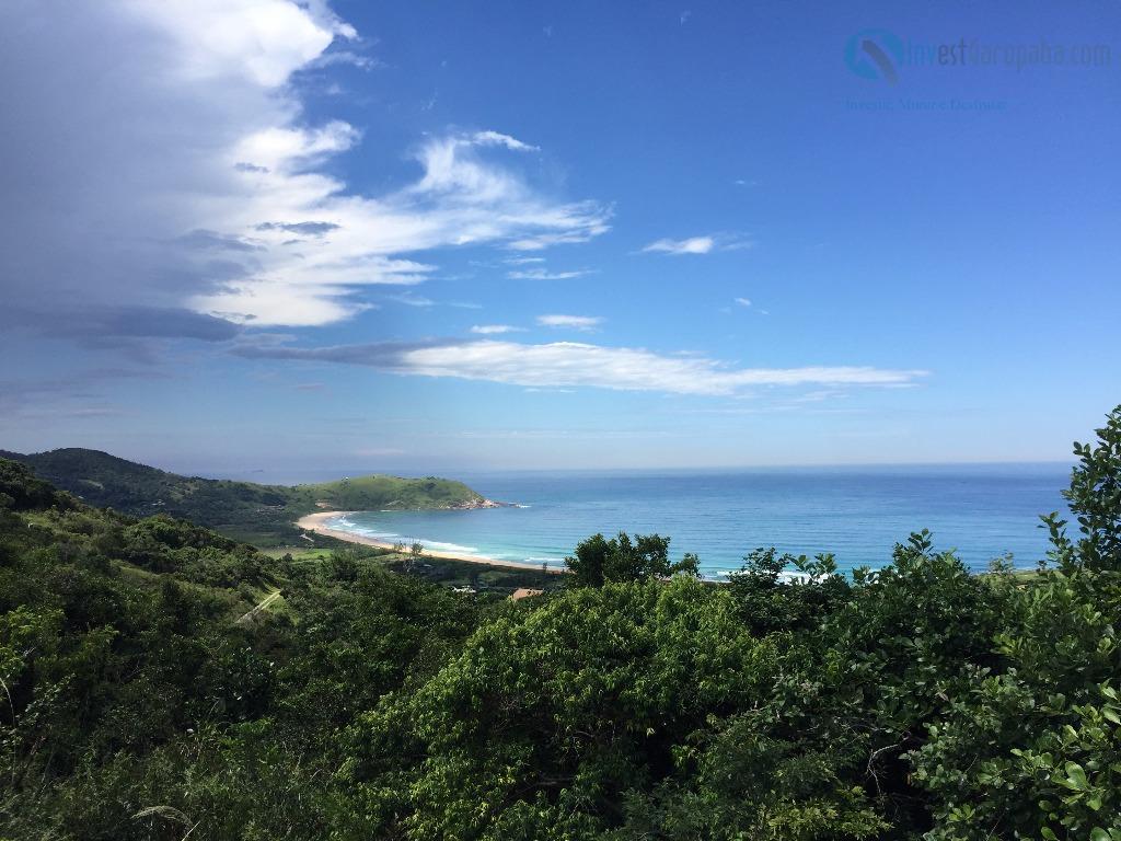 lindo terreno com vista exclusiva para a praia da silveira e lagoa da ferrugem. viabilidade para...
