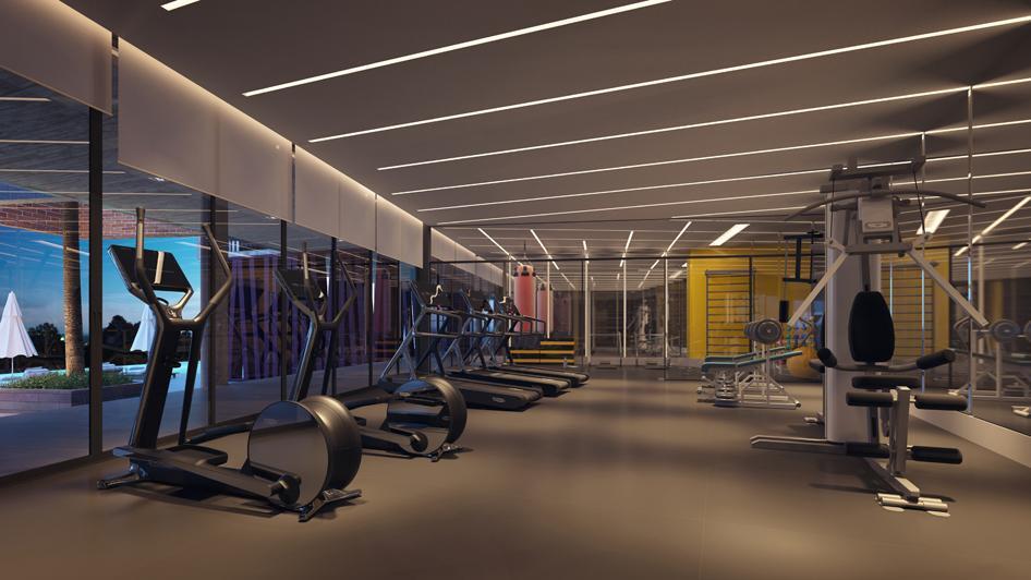 Espaço Fitness equipado