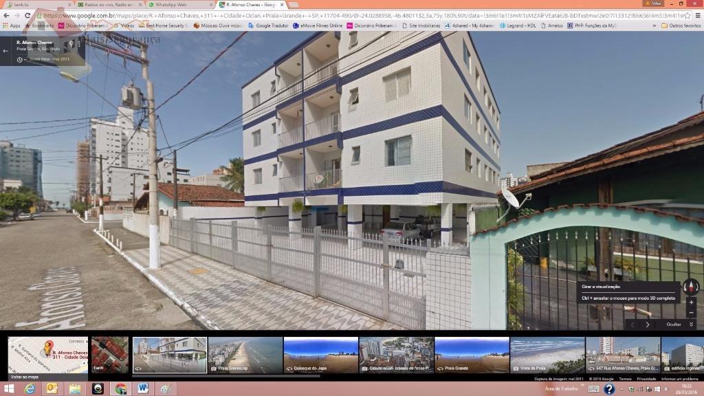 Apartamento  residencial para locação, Vila Mirim, Praia Grande.