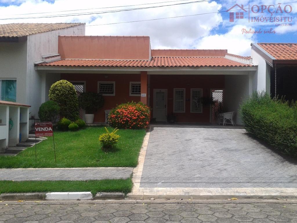 Casa residencial à venda, Condomínio Portal da Vila Rica, Itu - CA0080.