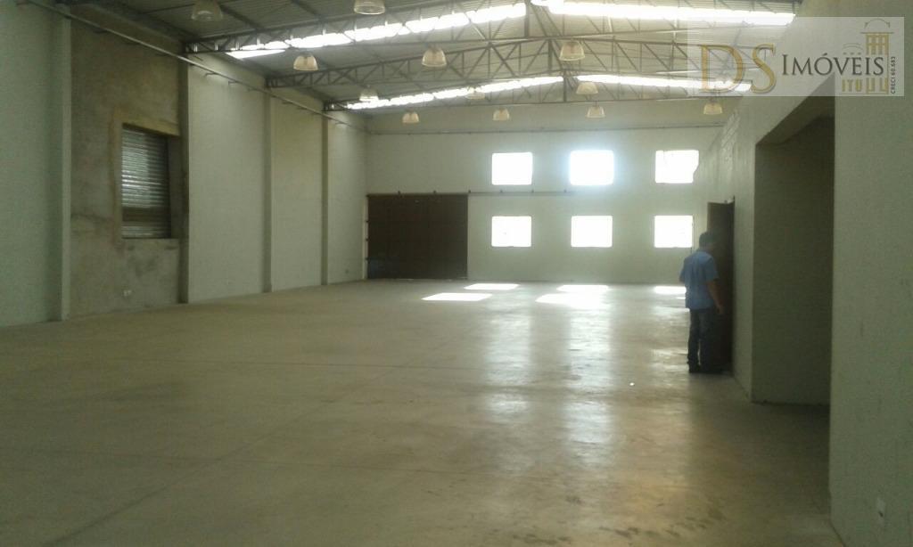Barracão  industrial para venda e locação, Julio Ustrito, Salto.