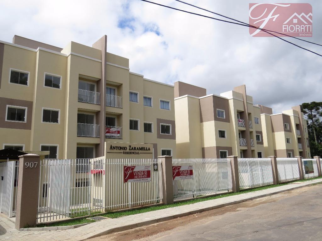 Apartamento com sacada à venda, Colônia Rio Grande, São José dos Pinhais - AP0422.