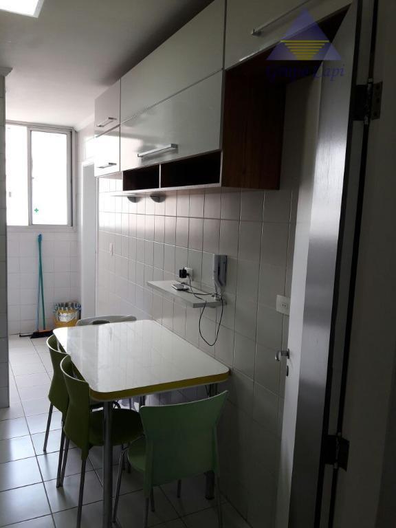 apto 3 dorms, despensa 1 suíte, 2 vagas, 75 m², todo mobiliado,ficando refrigerador na cozinha,home na...