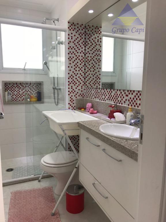 apto 3 dormitórios ,3 suítes, 1 lavabo, sala ampliada,escritórios, varanda gourmet,, móveis planejados em todos os...