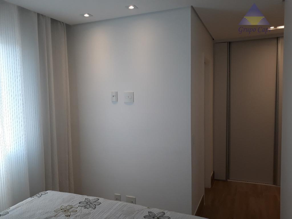 lindo apartamento - piso porcelanato com 03 dormitórios sendo 03 suítes, sala, varanda gourmet, home-office, lavabo...
